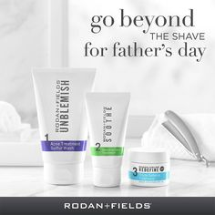 Father's Day is just around the corner. Don't forget dad on June 19!This three-step skincare kit for men tackles the tough parts of his shave routine (razor irritation, redness and bumps) so he can reveal his softer, smoother side. Celebrate Dad—and give him a top-notch shave experience that keeps him smiling.