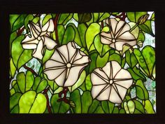 "2014 Online Art Glass Festival Small Panels 3rd Place ""Moon Flowers"" by Michael"