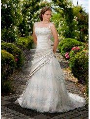 Dolce Satin & Lace A-line Square Neckline Wedding Dress