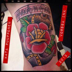 https://www.facebook.com/VorssaInk, http://tattoosbykata.blogspot.fi, #tattoo #tatuointi #katapuupponen #vorssaink #forssa #finland #traditionaltattoo #rose #anchor #oldschool