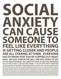 Can't read the bottom line shoot but yes this is 100% social anxiety