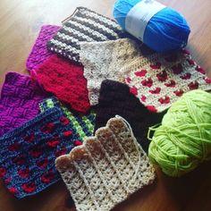 repaso de los cuadros 6 al 10 de la manta a crochet FreeStyle, proyecto gratuito y explicado para **diestros y zurdos**.