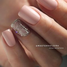 latest nail design ideas & trend 2019 – page 24 Hot Nails, Nude Nails, Hair And Nails, Perfect Nails, Gorgeous Nails, Pretty Nails, Latest Nail Designs, Nagel Gel, Nail Decorations