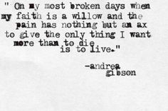 Andrea Gibson // Snippet from her poem, How to be Sick.