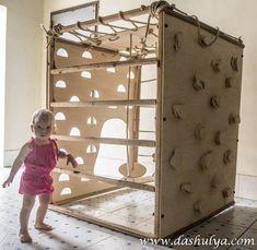 скалодром для детей, скалодром своими руками, скалодром из фанеры