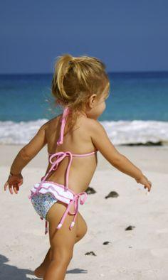 Ruffle Teeny Weenie... Kimi & Li Bikinis  kids & baby swimwear.