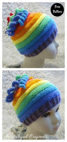 Baby Hat Knitting Patterns Free, Baby Cardigan Knitting Pattern, Baby Hat Patterns, Baby Hats Knitting, Knitting For Kids, Easy Knitting, Knitting Projects, Child Knit Hat Pattern, Easy Knit Hat
