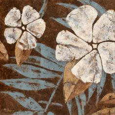 MUST HAVE!!! Flowers on Chocolate II Print by Maria Donovan at Art.com