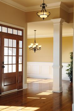 Craftsman columns foyer dining room for the home for Crown columns