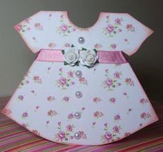 sweetie-Pie Dress Card for a newborn girl Baby Shower Deco, Baby Shower Cards, Baby Shower Gifts, Baby Girl Cards, New Baby Cards, Baby Mini Album, Baptism Cards, Baby Shower Invitaciones, Dress Card