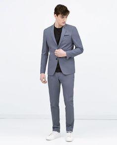 ZARA - MĘŻCZYZNA - Niebieski garnitur