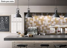"""Imola Ceramica's """"Cento per Cento"""" is retro-modern with 11 attractive colors and a range of tactile, surface patterns that can be mixed & matched to your heart's desire. Kitchen Tops, Kitchen And Bath, Siena, Mustard Walls, Diy Home, Home Decor, Kitchen Showroom, Tile Stores, Ceramic Wall Tiles"""