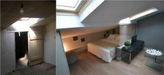 AVANT / APRES : Rénovation d'un studio, lit sous les toits. Gain de place