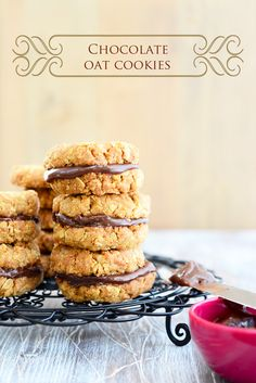 Chocolate Oat Cookies - a good old fashioned cookie.