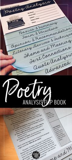 Analyze ANY poem with this interactive flip book for a middle or high school English class!