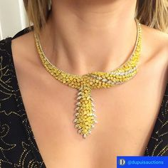 Striking design with many many carats of diamonds. This necklace is available @dupuisjewels