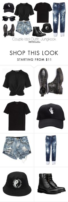 """Couple Idol Outfit: Jungkook"" by btsoutfits ❤ liked on Polyvore featuring T By Alexander Wang and Dsquared2"