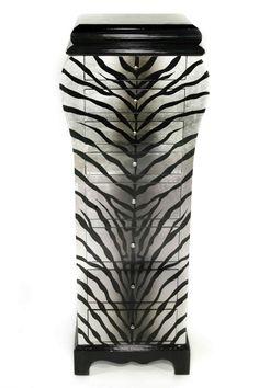 Casa Collection Zebra Kommode mit Schmuckfach im Deckel