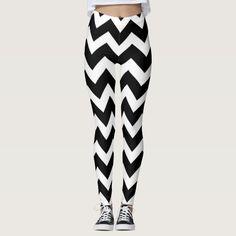 Designers stylish leggings : black and white Glitter Leggings, Striped Leggings, Glitter Gifts, Girly Gifts, Unique Gifts, Stripes, Stylish, Pattern, Designers
