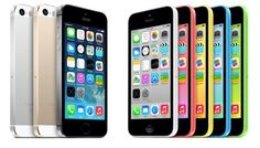 APPLE  :: The New iPhones For 2013 - iPhone 5s in Silver, Gold and Space Gray and Colorful iPhone 5c in White, Pink, Yellow, Blue and Green
