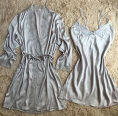 lace silk robe & gown set free shipping plus size two piece suspender sleepwear + bathing robe hot