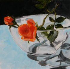 """Roses"" - Original Fine Art for Sale - � Aniko Makay"