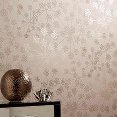 Diva Beige Wallpaper by Barbara Hulanicki - Designer Brown Wall Coverings by Graham & Brown