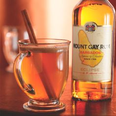 Mount Gay Hot Buttered Rum.  Arrgggh, a rum since 1703!  Where be me cup? Pour me a draught! Pirates!