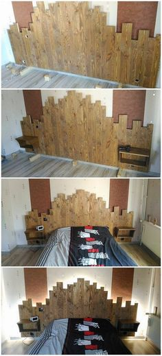 DIY Pallets Wooden Made Bed Headboard: Presence Of Handmade Projects At  Your Place Endow Your Area With Brilliant Look. The Advantage Of Crafting  Wood ...