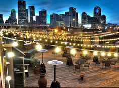 2616 Commerce Event Center is a 20,000 square foot urban wedding venue in downtown, Dallas. It has 2 indoor areas and the rooftop patio you see in the photo.  Dallas reception venues, Dallas wedding venues, DFW wedding