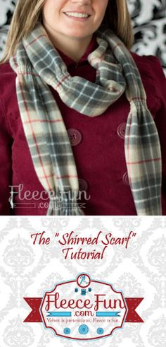 You can make an elegant fleece scarf in minutes. Easy Fleece shirred scarf DIY.