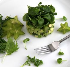 Watercress, Avocado, Kiwi Salad