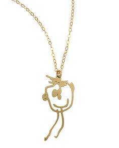 Brevity Custom Drawing Necklace: keep your children's art close to you
