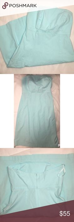 Gap strapless dress Baby blue gap strapless dress size for stretch zips down the back in perfect condition slit up the back GAP Dresses Strapless