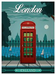 vintage london poster - Google Search