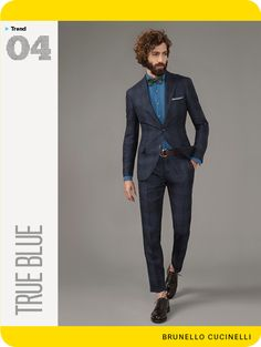GQ's Spring Trend Report 2014: True Blue Slim cut jackets in shades of blue are in style