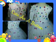 God's Child Creations presents Buttons and Bows (Skirt, shirt & socks)