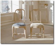 Gustavian Style - A Higher End looking Swedish style (vs Scandinavian Country Style). Hallunda   The 1700 Collection Swedish Furniture