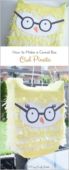 Tutorial on how to make an owl pinata