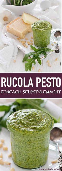 Rucola Pesto - schnell & einfach selbstgemacht - Salsas y aderezos - Pesto Dip, Pesto Pasta, Sauce Pesto, Spinach Pasta, Pasta Carbonara, Shrimp Pasta, Chicken Pasta, Pasta Salad, Sauces