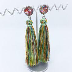 Multicoloured tassel earrings - $20AUD - allure style