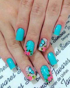 Fall Natural Nails Acrylic And Gel Polish Nail Designs Pretty fall natural nails - Fall Nails Cute Spring Nails, Spring Nail Art, Nail Designs Spring, Cute Nail Art, Cute Nails, My Nails, Nail Polish Designs, Nail Art Designs, Gel Polish