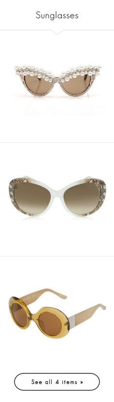 """""""Sunglasses"""" by sugarmoonmama ❤ liked on Polyvore featuring accessories, eyewear, sunglasses, glasses, roberto cavalli sunglasses, see through sunglasses, brown gradient sunglasses, see through glasses, transparent glasses and tortoise shell sunglasses"""