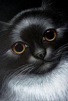 TUXEDO CAT. Artist Cyra R. Cancel