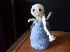 Frozen Elsa hand knit Topsy Turvy doll cute by SouthSisterRevival, I also have her sister Anna. Available as a set with discount.  $30.00