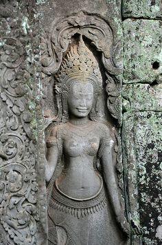 Angkor temples@@ Asian History, Black History, Cambodian Art, Temple, Angkor Wat Cambodia, Baby Buddha, Cave Painting, Buddhist Art, World Cultures