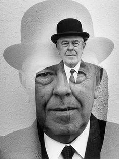 René Magritte par Duane Michals.