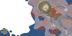 """Ilustración de Silvia Cabestany para el poema de Alex Nogués """"Pequeño buzo somnoliento"""" incluido en el libro del mismo título www.porkepik.net"""
