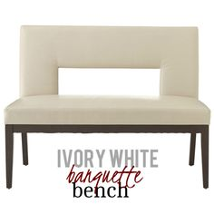 This bench offers an ultra-modern extend with the help of a daring sculptural cut-out and a widening to settee size. The convenience factor, on the other hand, has not altered. Long lasting faux leather in rich and creamy ivory is expanded tight over 100% foam cushioning on the back and seat for optimum sit-ability. Carefully tapered solid wood legs and base offers stableness as well as contrast. Banquette Bench, Dining Bench, Mid Century Modern Furniture, Contemporary Furniture, Foam Cushions, Settee, Hollywood Regency, Interior Styling, The Help