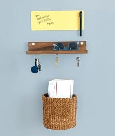 Stash unsorted mail in a bin near the door and you'll halt that creeping paper trail.